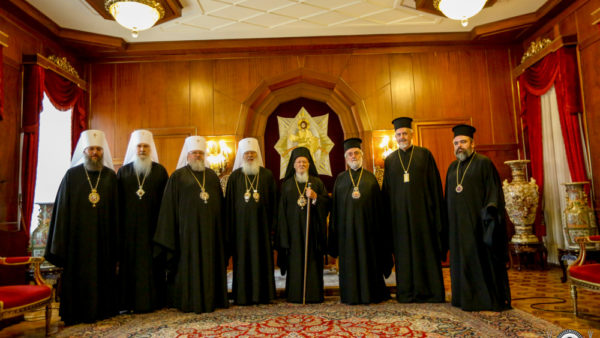Делегація Священного Синоду УПЦ зустрілася з Патріархом Константинопольським Варфоломієм
