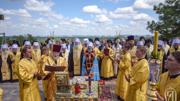Предстоятель Української Православної Церкви очолив урочистий молебень на Володимирській гірці з нагоди Дня Хрещення Русі